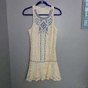 Lace Fit Flare Sleeveless Festival Boho Dress